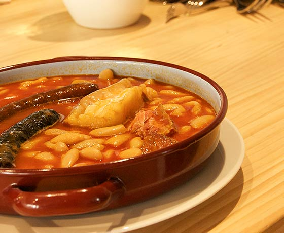 Fabada Asturiana Restaurante Carús Madrid