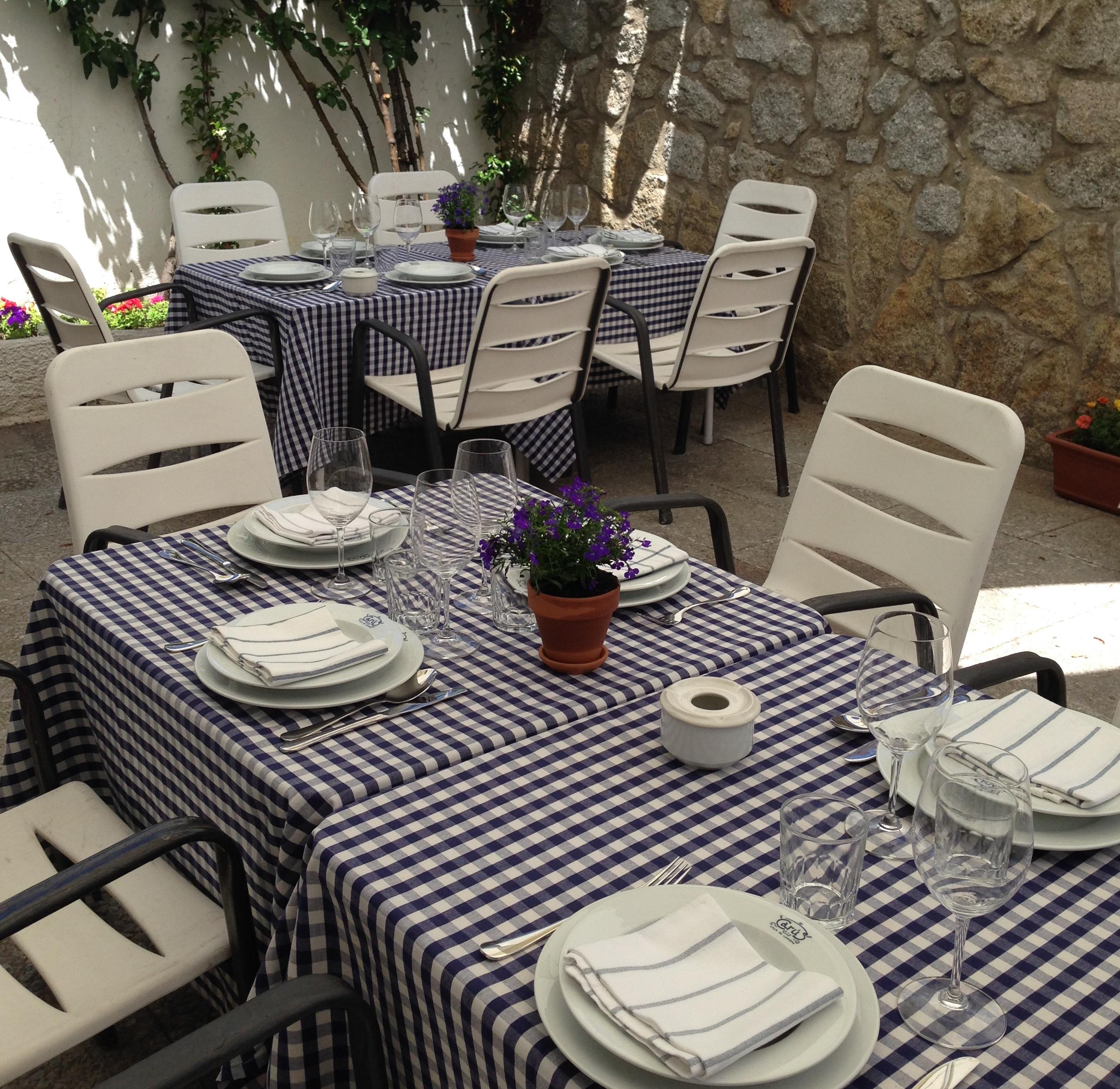 Terraza restaurante Asturiano Madrid